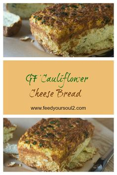 GF Cauliflower Cheese Bread from Feed Your Soul Too Cauliflower | Gluten Free | Bread