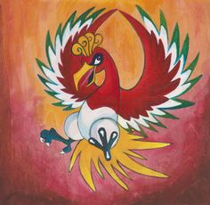 Original Painting  HoOh by corlista on Etsy.