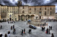 """One year in Perugia, Italy.... Sitting on those steps was """"the thing"""" to do...."""