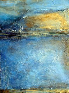 blue and gold abstract paintings - Google Search