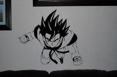 Goku DBZ Dragon Ball wall decals anime mural arts by OneDesignArt