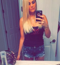 Posted by ashh_458 on IG Bucked. Up. #outlastnight #celebrate #dixie #texasroadhouse #linedancing #boots #countrygirl #buckedup #daisydukes #blessed #lifeisgood #friends #countrymusic #perfectnight #fridays #blonde #longhair #selfie #filter #lastnight