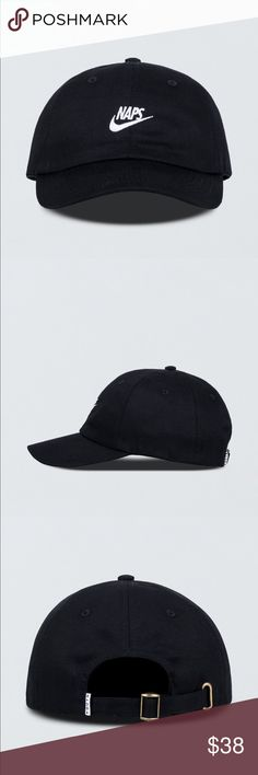 Youth Machine Naps Cap Black with White Embroidery Description  The LA-based menswear brand Youth Machine is the creation of husband/wife design duo Clifford and Erica Lidell. Creating highly stylized silhouettes drenched in teen angst, the brand is famous for their parodies of popular streetwear brands that appeal to the youth counterculture.  Unstructured 6 panel silhouette Embroidered art at front Cotton strap with brass clasp Curved brim 100% cotton twill NEW WITHOUT TAG Youth Machine…
