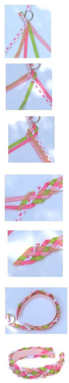 How To Make Braided/Woven Headband Instructions