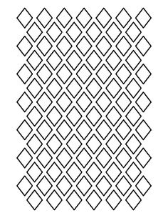 1 inch diamond pattern. Use the printable outline for crafts, creating stencils, scrapbooking, and more. Free PDF template to download and print at http://patternuniverse.com/download/1-inch-diamond-pattern/