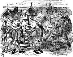 #35 - John Tenniel - Through the Looking Glass - Haigha, the Anglo-Saxon messenger, eating and drinking