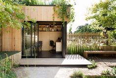 Wooden garden office
