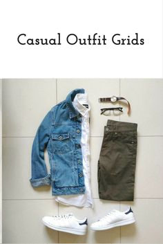 Casual outfits Grid for men #mens #fashion #style