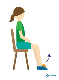 Six simple recovery exercises for foot drop (also called drop foot or dropped foot), the inability to raise the front of the foot due to weakness or paralysis of the muscles and nerves that lift the foot. Foot Exercises, Chair Exercises, Stretches, Exercise While Sitting, Lower Leg Muscles, Physical Therapy Exercises, Stroke Recovery, Muscle And Nerve, Physical Therapy