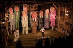 Mark Dannenhauer's photograph of Bread and Puppet Theater performing at its home in Vermont. (Courtesy of the artist)