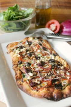 "The Kitchen Prep: #PizzaWeek: ""Greek-za!"" Mediterranean Pizza"