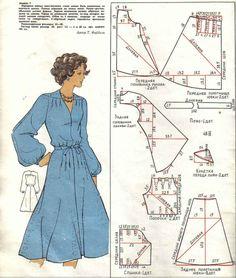 Magazine with patterns Vintage Dress Patterns, Dress Sewing Patterns, Vintage Dresses, Sewing Clothes, Diy Clothes, Patron Vintage, Blog Couture, Modelista, Vestidos Vintage