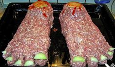 Halloween Recipe Big Foot Feet - german recipe that can be easily made ion the USA or anywhere