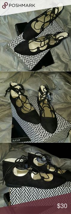 ANA EMBER Black Flats Gorgeous Flats. ALL NEW! Comes with box. I have 2 sizes available  which are size 5 & 6. THEY ARE NEW NEVER WORN! Thanks for looking, if interested in buying, I'm flexible with the price. Feel free to SHARE !! a.n.a Shoes Flats & Loafers