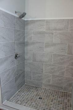 Home Interior Salas .Home Interior Salas Grey Bathroom Tiles, Simple Bathroom, Bathroom Showers, Bathroom Ideas, Gray Shower Tile, Bathroom Canvas, Master Bathroom, Shower Ideas, Shower Remodel
