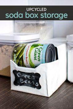 Pantry Storage Ideas: 16 Top Canned Food Storage Hacks Canned Good Storage, Can Storage, Pantry Storage, Storage Hacks, Storage Boxes, Kitchen Organization, Organization Hacks, Food Storage, Storage Ideas