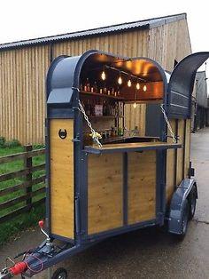 Horse Trailer Mobile Bar~Gin~Fizz ~Coffee Bar Wedding Festival Hire Business