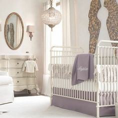 Lilac White Baby Room Decor of Wonderful Baby Room Design Ideas For New Parents from Kids Room Designs Baby Girl Room Decor, Baby Room Design, Baby Nursery Decor, Baby Bedroom, Nursery Room, Baby Rooms, Nursery Ideas, Baby Bedding, Nursery Design