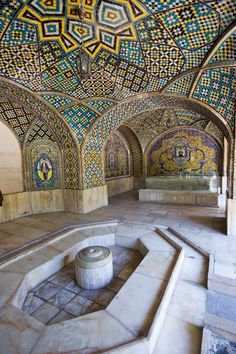 Tile and architecture of Golestan Palace-Tehran, Iran