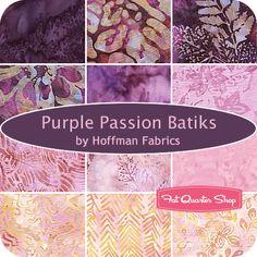 Purple Passion Batiks Fat Quarter Bundle Hoffman Fabrics