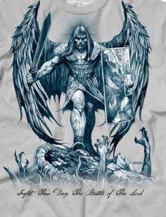 Angel Warrior Tattoo, Fallen Angel Tattoo, Warrior Tattoos, Bull Tattoos, Biker Tattoos, Body Art Tattoos, Tatoos, Archangel Michael Tattoo, St Michael Tattoo