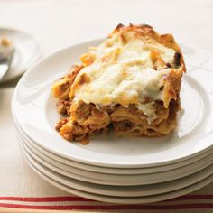 Pastitsio. This Greek inspired casserole is delicious!  Substitute ground turkey or beef if you are not a fan of lamb.