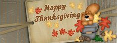Happy Thanksgiving Fall Squirrel CoverLayout.com