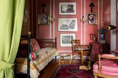 Pink all grown up by using a more somber hue and decorating with engravings