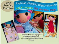 SALE LaLaLoopsy Doll Pajamas Sleeping Bag and by 4girlsdesigns, $5.00