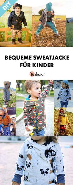 Lockere Kinderjacke für die Übergangszeit - Nähanleitung und Schnittmuster via Makerist.de
