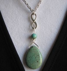 INFINITY TEAR DROP necklace. $22.00.  Oh my this is stunning!  http://www.etsy.com/listing/119594898/infinity-tear-drop#