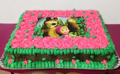 Masha And The Bear, Ideas Para Fiestas, Party Cakes, Cake Decorating, Alice, Birthday Cake, Food, Birthday Cakes For Children, Rice Paper