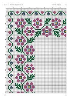 Cross Stitch Rose, Cross Stitch Flowers, Crochet Tablecloth, Embroidered Bag, Cross Stitch Designs, Needlepoint, Free Crochet, Needlework, Christmas Crafts