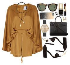"""""""Untitled #521"""" by clary94 ❤ liked on Polyvore featuring Acler, Nly Shoes, Olivia Burton, CÉLINE, Yves Saint Laurent, Loren Stewart, Bobbi Brown Cosmetics, Luv Aj and Vanessa Mooney"""