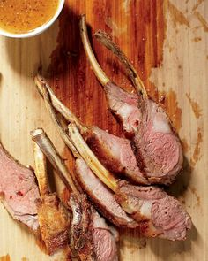 Rack of Lamb with Mustard Sauce Recipe. Tip: Searing the lamb before roasting ensures beautiful browning and added depth of flavor.
