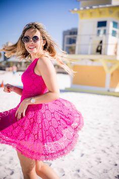 Vestido Rendado Pink
