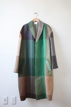 coat-love this style, love this plaid Yohji Yamamoto, Fashion Mode, Cute Fashion, Womens Fashion, Mode Style, Style Me, Vogue, Mode Inspiration, My Wardrobe