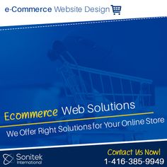 If you're setting up an online shopping portal, we can help you. Get in touch with Sonitek International for