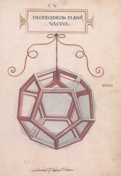 """Illustrations of various geometric figures by Leonardo da Vinci for Luca Pacioli's """"De Divina Poroportione"""" - the only thing da Vinci had a hand in that was published during his life time. Luca Pacioli, Divine Proportion, Platonic Solid, Fibonacci Spiral, Math Art, Amazing Drawings, Sacred Geometry, Solid Geometry, Tattoo Inspiration"""