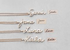 Actual Handwriting Necklace - Personalized Signature Charms - Bridesmaid Jewelry - Silver, Gold, Rose Gold Wedding Gifts - - List of the most beautiful jewelry Personalized Jewelry, Custom Jewelry, Fingerprint Jewelry, Gold Name Necklace, Engraved Necklace, Pearl Necklace, Diamond Choker, Charms, Argent Sterling