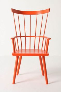I am thinking of painting a rocker either orange or white for Harrison's room.