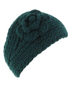 adorable knit headband with flower