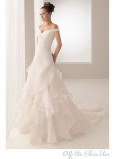 This is my perfect wedding dress. http://www.aliexpress.com/store/product/free-shipping-Portrait-V-neck-A-Line-Wedding-Dress-Ruffle-Tiers-Bridal-Gown-Size-Custom-New/713375_751382528.html