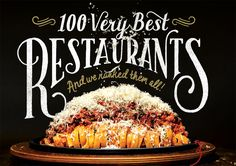 100 Very Best DC Area Restaurants as ranked by the Washingtonian Magazine