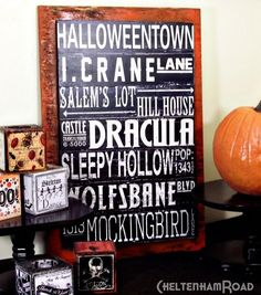 DIY Halloween: DIY Halloween Signs: DIY Halloween Decor