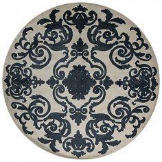Ковер ручной из шерсти Cardinal Circle Charcoal. Французская коллекция. #ковры #ковер #дизайн #интерьер #дизайнинтерьера #designer #interior #designerinterior #rug #carpets