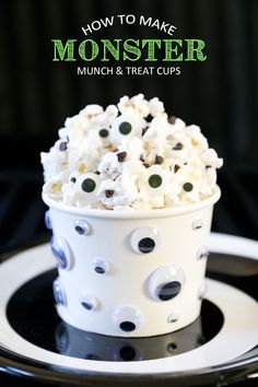 Monster Munch & DIY Monster Treat Cups : Apartment Living Blog