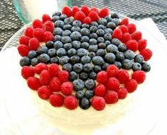 red-blue-white pretty for your 4th of July table.