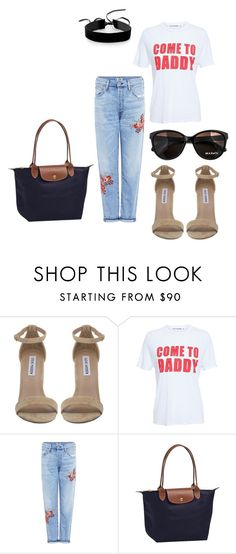 """Untitled #111"" by xxapril on Polyvore featuring Steve Madden, Filles à papa, Citizens of Humanity, Max&Co., Longchamp and Simons"