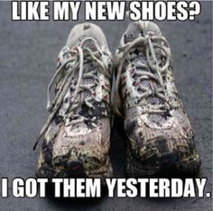 Haha this is kinda true I got my running shoes in August and they already have black track stains on them.
